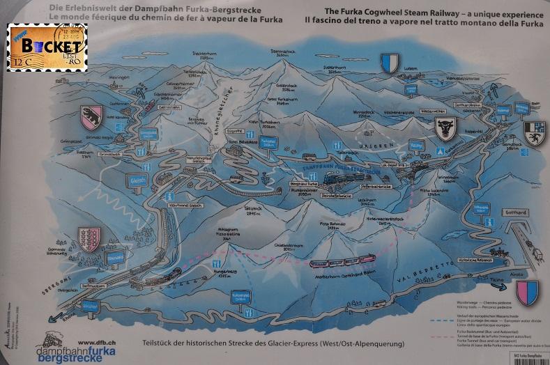 Alpin roads Pasul Furka harta