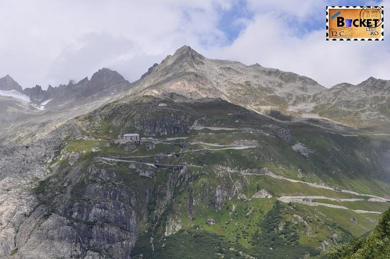 Alpin roads Pasul Furka harta si ghetarul