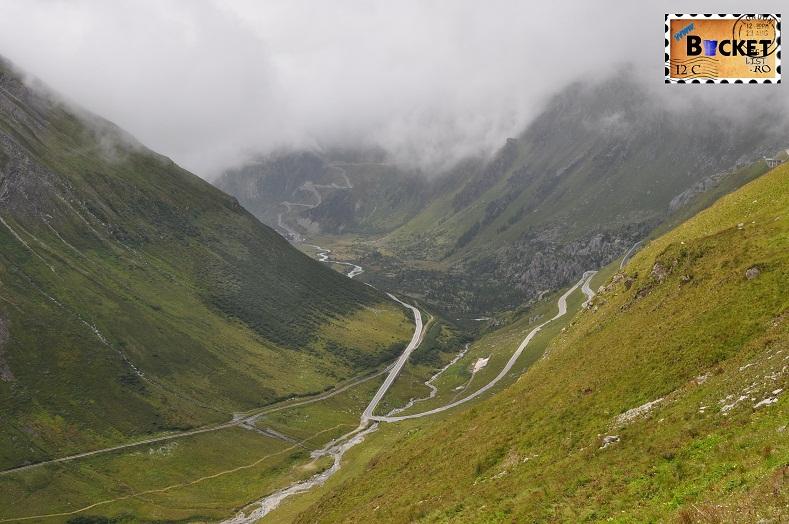 Alpin roads Pasul Grimmsel vazut de la Furka
