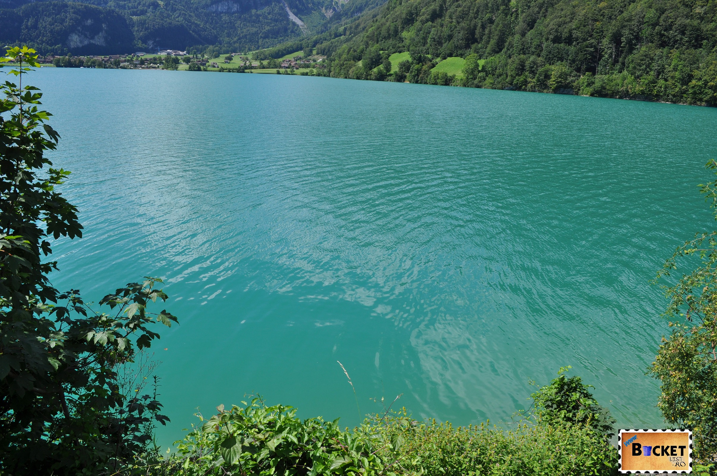 Samensee (Lacul Samen vazut pe vreme insorita)