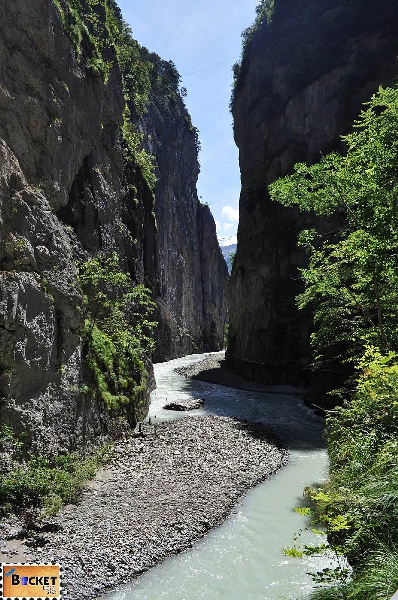 Aareschlucht - canionul raului Suiza