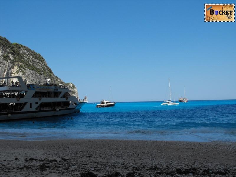 blue water at Navagio - Plaja Navagio