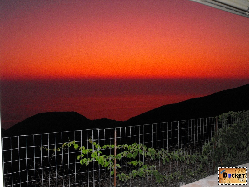 A luat foc marea Apus de soare - Taverne Zakynthos