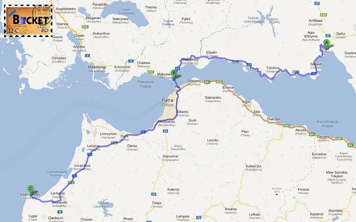 Drum Itea - Antirio - Podul Patras- Rio- Killini  - Drumul spre insula Zakynthos