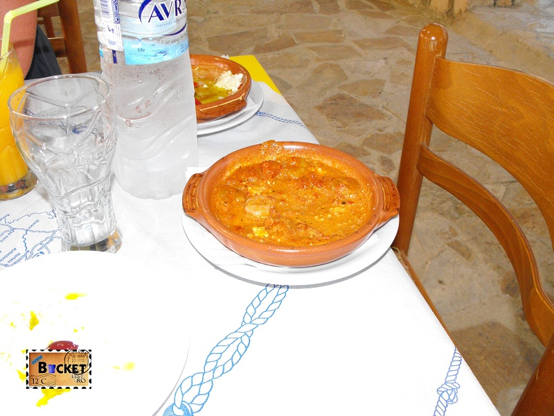 Fructe de mare la cuptor cu branza Feta - Taverne Zakynthos