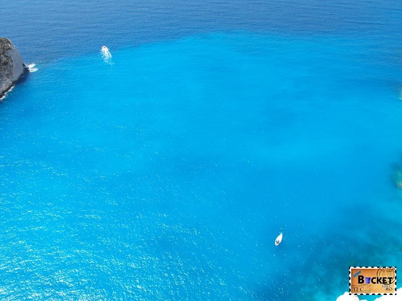 Navagio Panorama blue