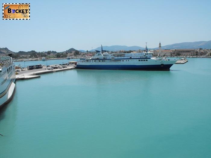 Portul Zante  Insula Zakynthos  - Drumul spre insula Zakynthos