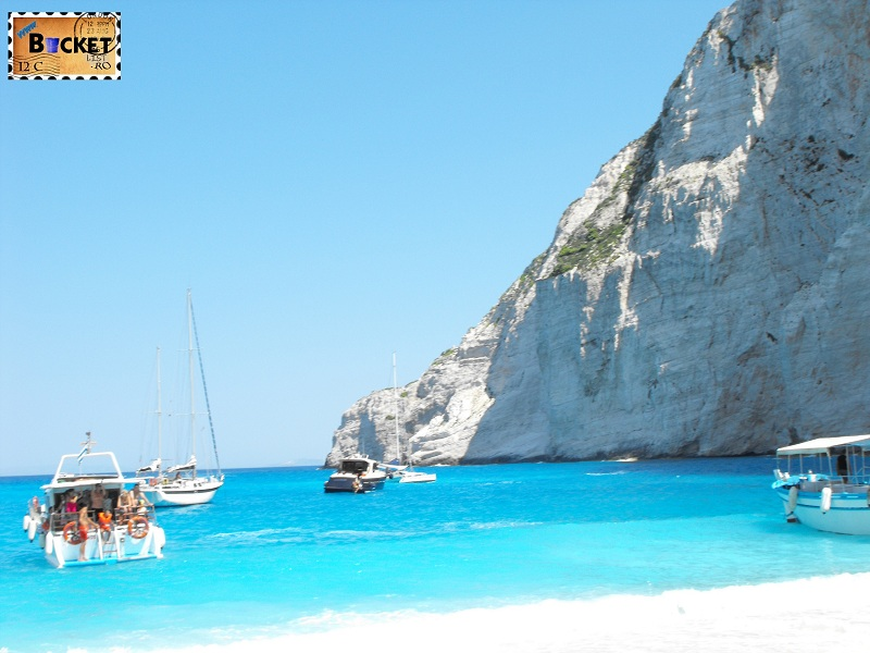 blue water of Navagio - Plaja Navagio