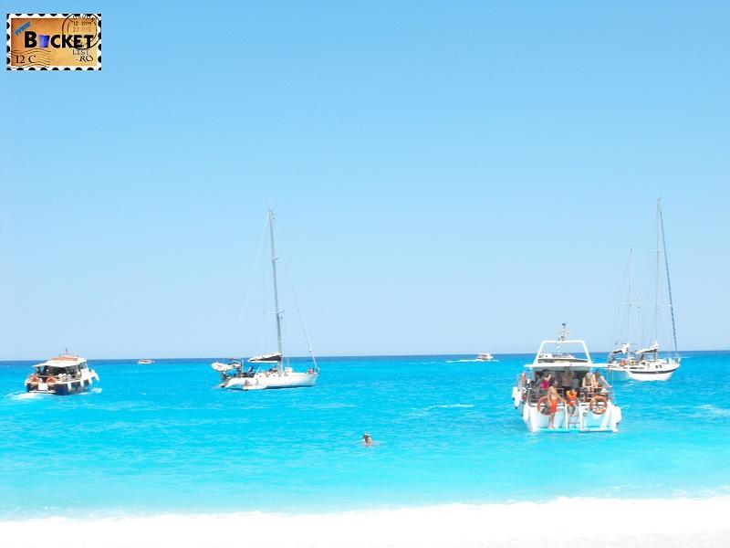 blue water of Shipwreck Navagio - Plaja Navagio