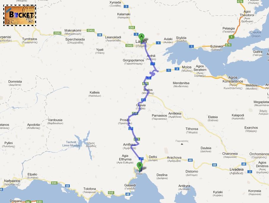 drum Lamia Itea  - Drumul spre insula Zakynthos