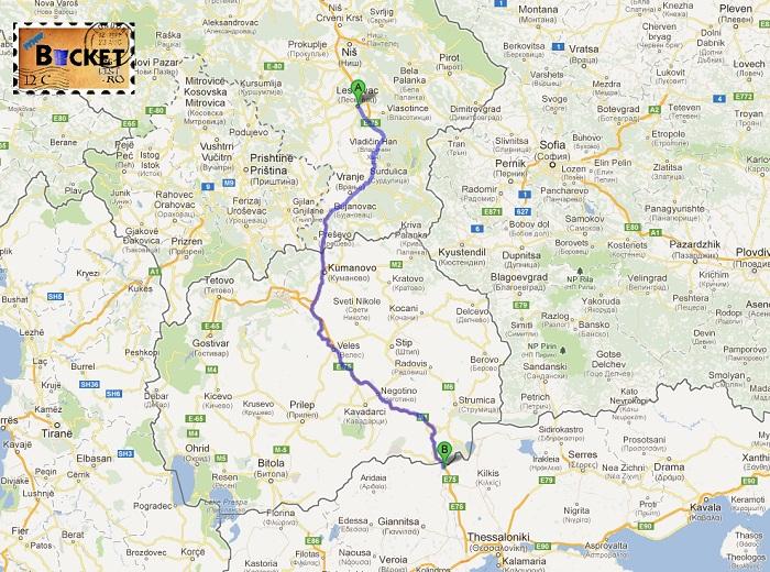drum Leskovac - Evzoniki - Drumul spre insula Zakynthos