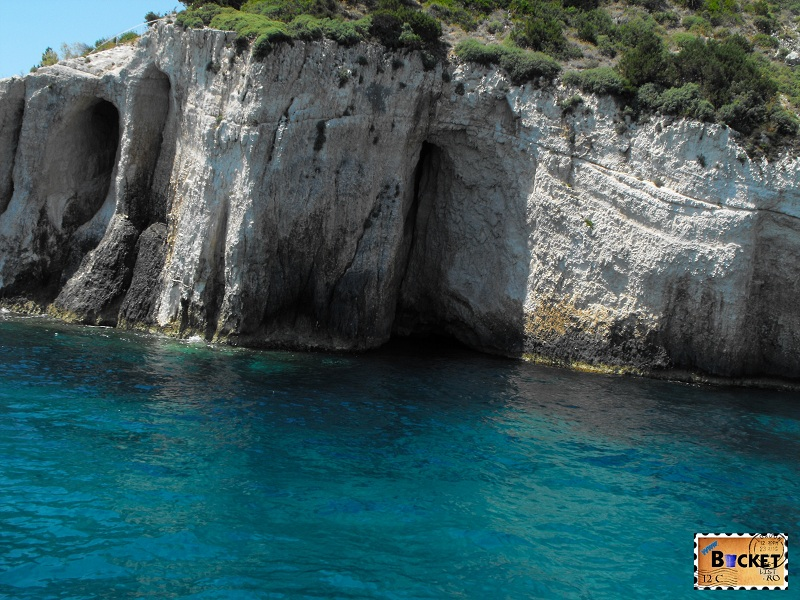 Blue caves Skinari - intrarea in pestera