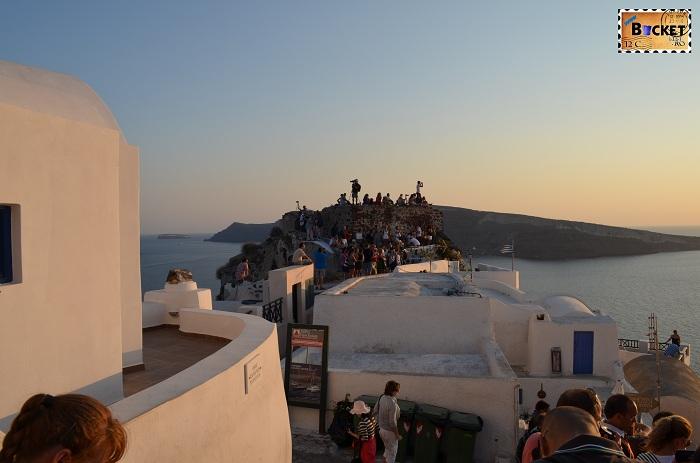 Apus de soare- Kasteli Agios Nikolaos Oia Santorini