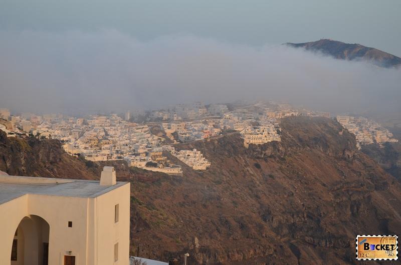 Fira privita din Imerovigli, Santorini
