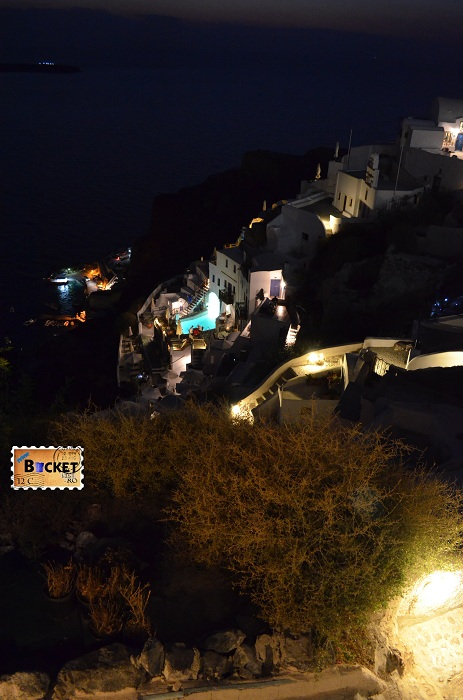 Hotel Fanari Villas Oia Santorini by night