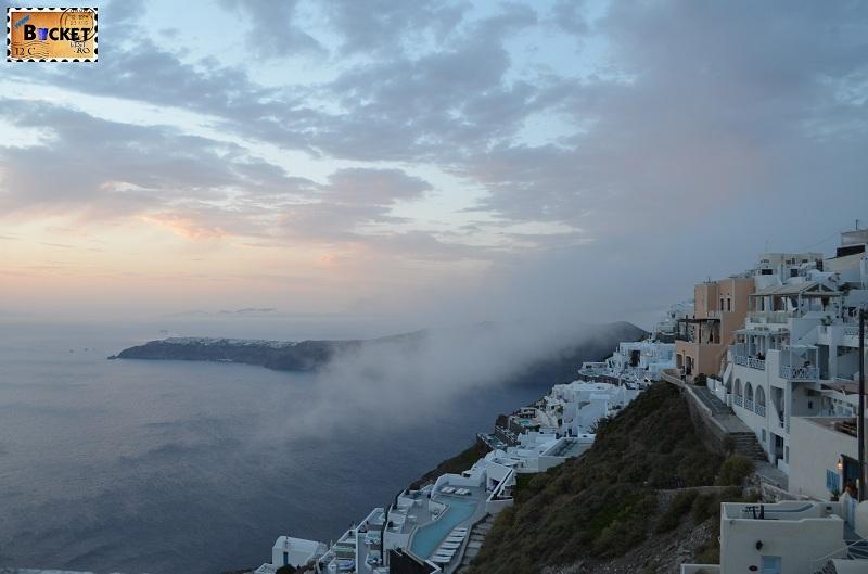 Imerovigli on the cloud, Santorini