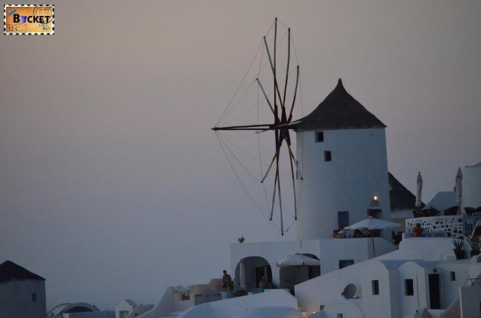 Moară de vânt cicladice Oia Santorini
