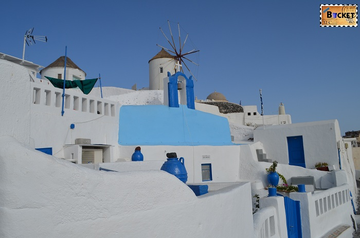 Moara de vant cicladica in Oia