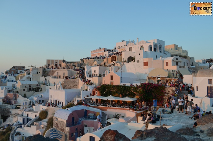 Oia Village @ sunset