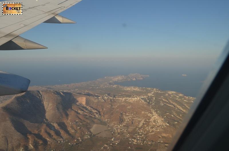 Pyrgos si Profitis Ilias din avion