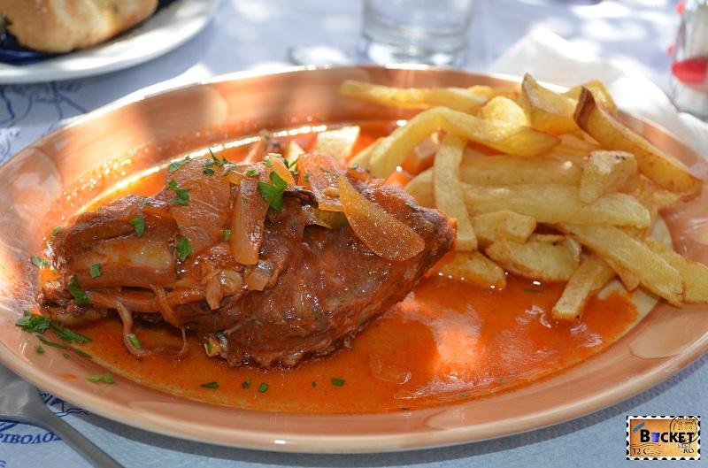 Rabbit in tomato sauce @ Taverna Kallisti