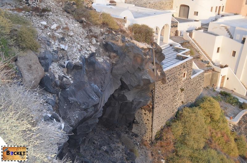 Roca vulcanica in Imerovigli