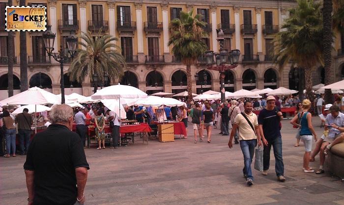 Rambla Barcelona Placa Reial