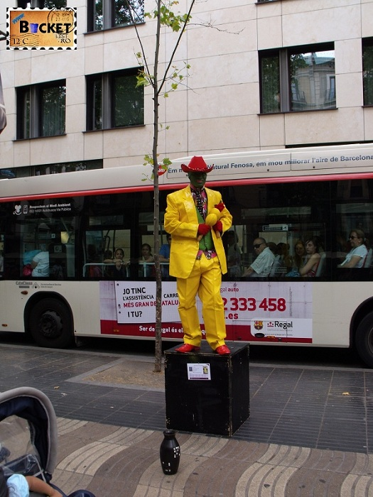 The Mask - Statuie Umana Rambla Barcelona