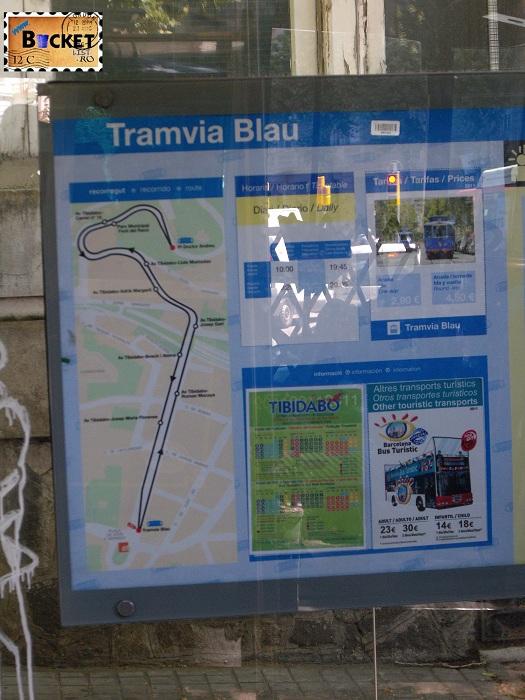 Barcelona Tramvaiul albastru Orar