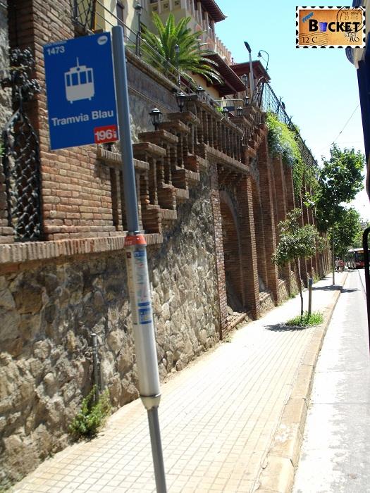 Barcelona Tramvaiul albastru statie
