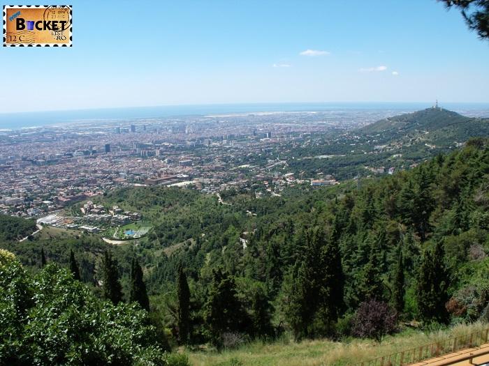 Barcelona vazuta din funicular
