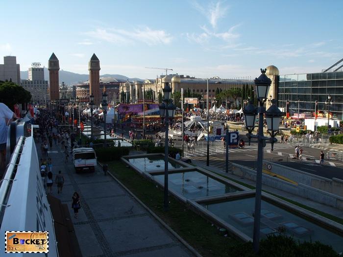 Biker show on Barcelona