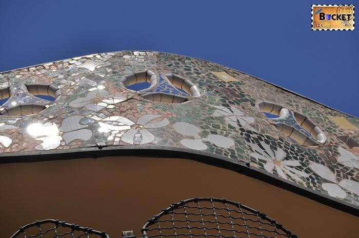 Casa Batlló spre curtea interioara