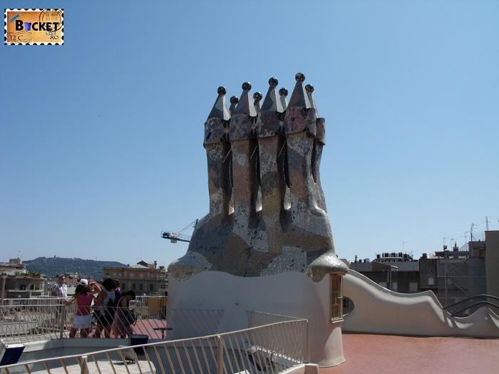 Casa Batlló terasa acoperis