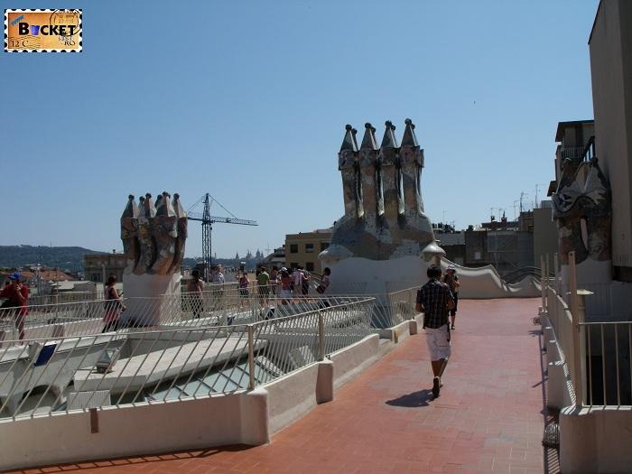 Casa Batlló terasa superioara