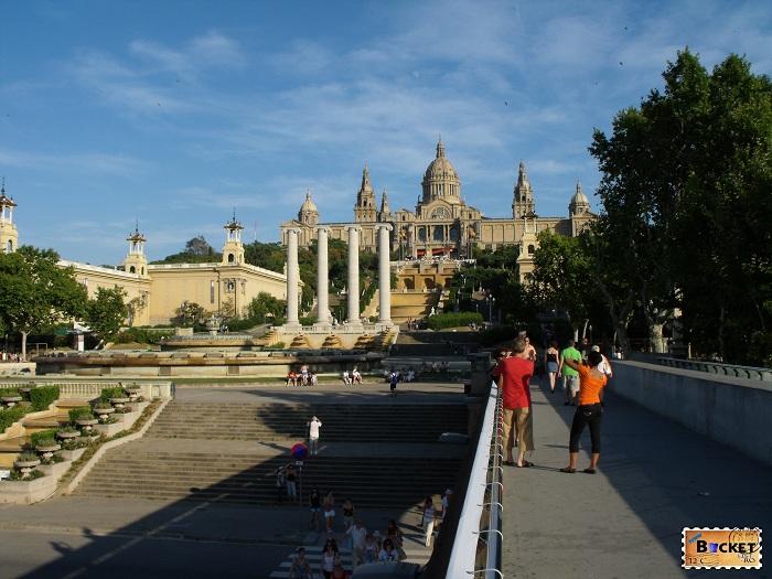 Fantanile magice de pe  Montjuic Barcelona