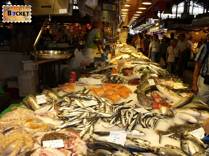 Barcelona fish market