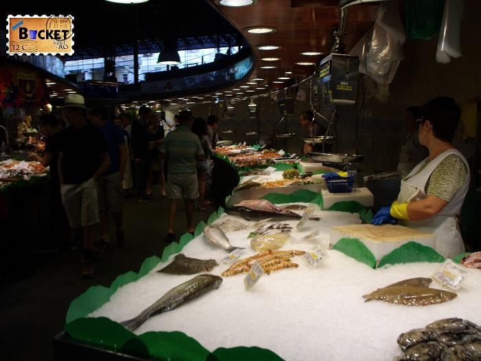 La Boqueria -Barcelona fish market