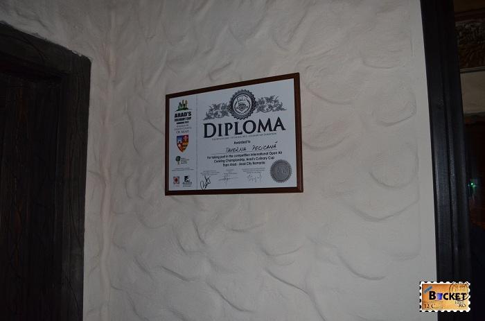 Taverna Pecicană - diplomă