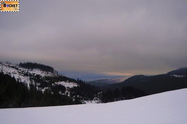 Peisaj de iarnă in munţii Apuseni