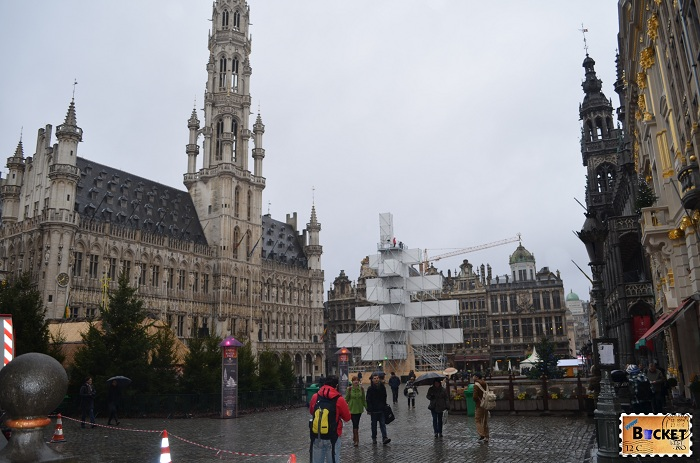 Primaria Bruxelles si Abies electronicus din Grote Markt