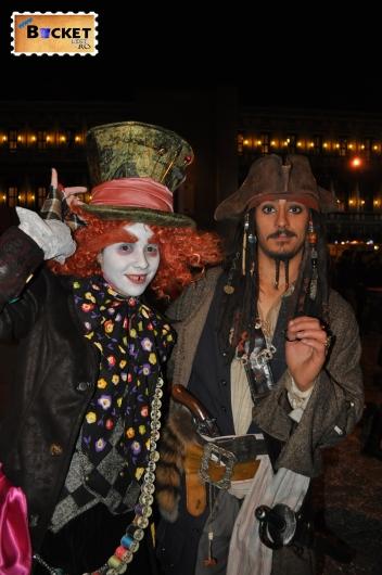 măşti Jonny Deep la  carnavalul de la Veneţia