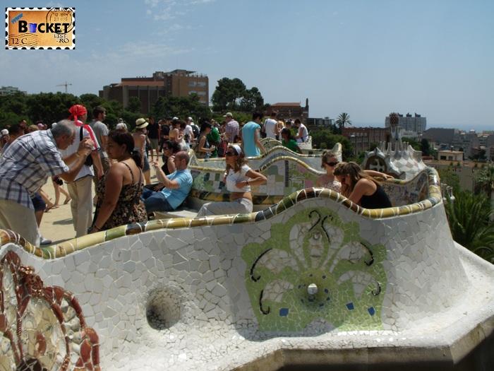 Parc Guell Barcelona  - banca șerpuindă  (2)