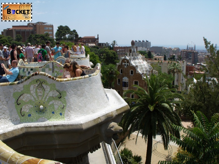Parc Guell Barcelona  - banca șerpuindă