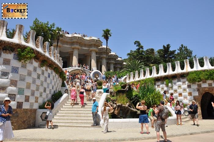 Parc Guell Barcelona  intrarea principala