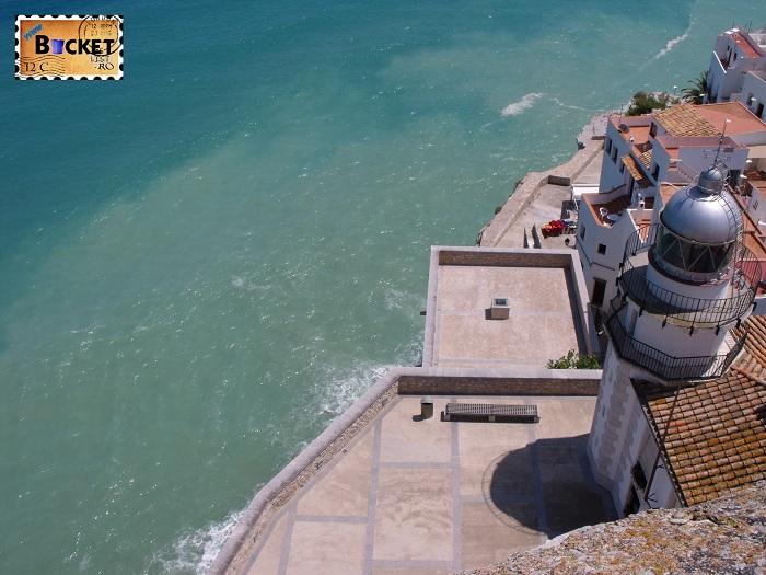 Vedere panoramica Cetatea Peniscola Spania