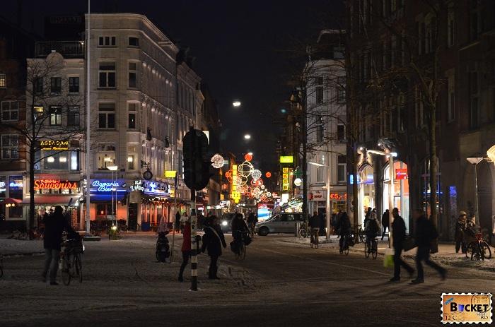 spre Cartierul Rosu Amsterdam - plan de calatorie