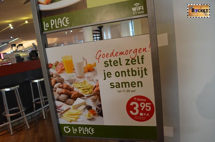 Unde să mănânci în Amsterdam oferta de mic dejun Restaurant La Place