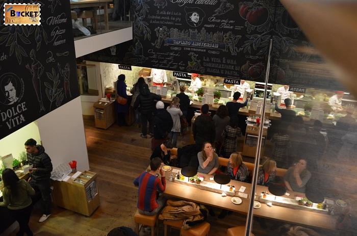 Restaurant Vapiano, locul unde să mănânci în Amsterdam paste
