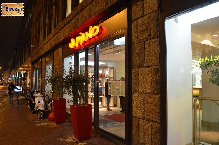 Restaurant Vapiano, locul unde să mănânci în Amsterdam in zona Rembrandtplein